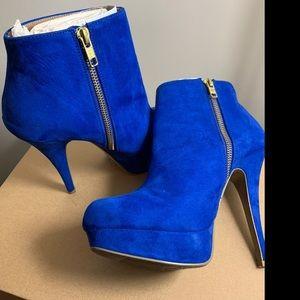 Cobalt Blue Ankle Booties - 8